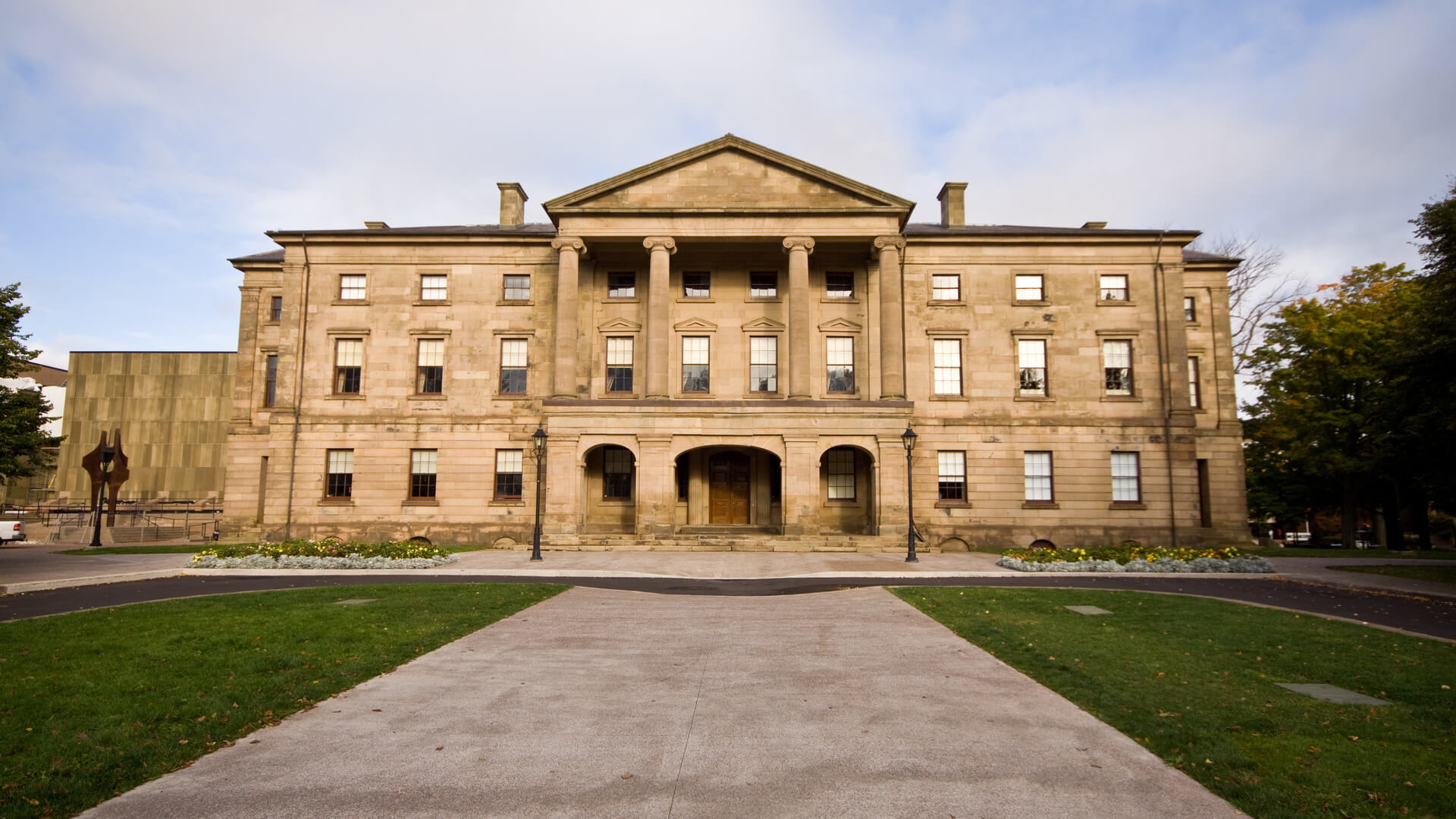 Province House in Charlottetown on a clear day