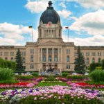 The Legislative Assembly of Sakskatchewan on a sunny day in Regina