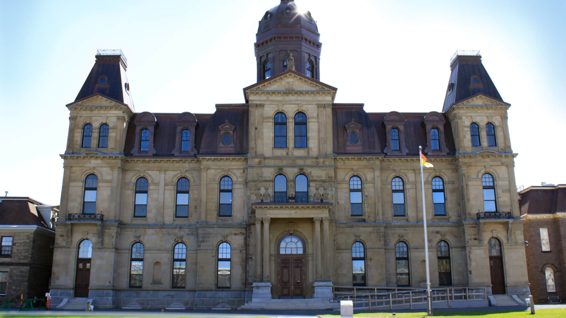 Legislative Assembly Building in Fredericton on a sunny day