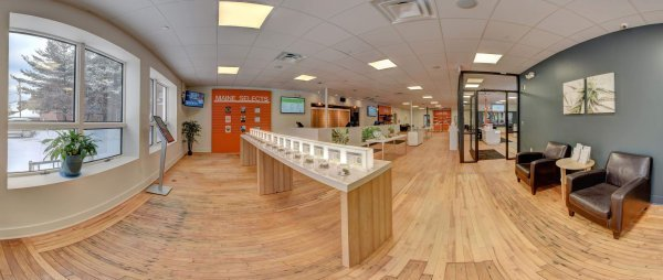 Inside view of Wellness Connection of Maine dispensary