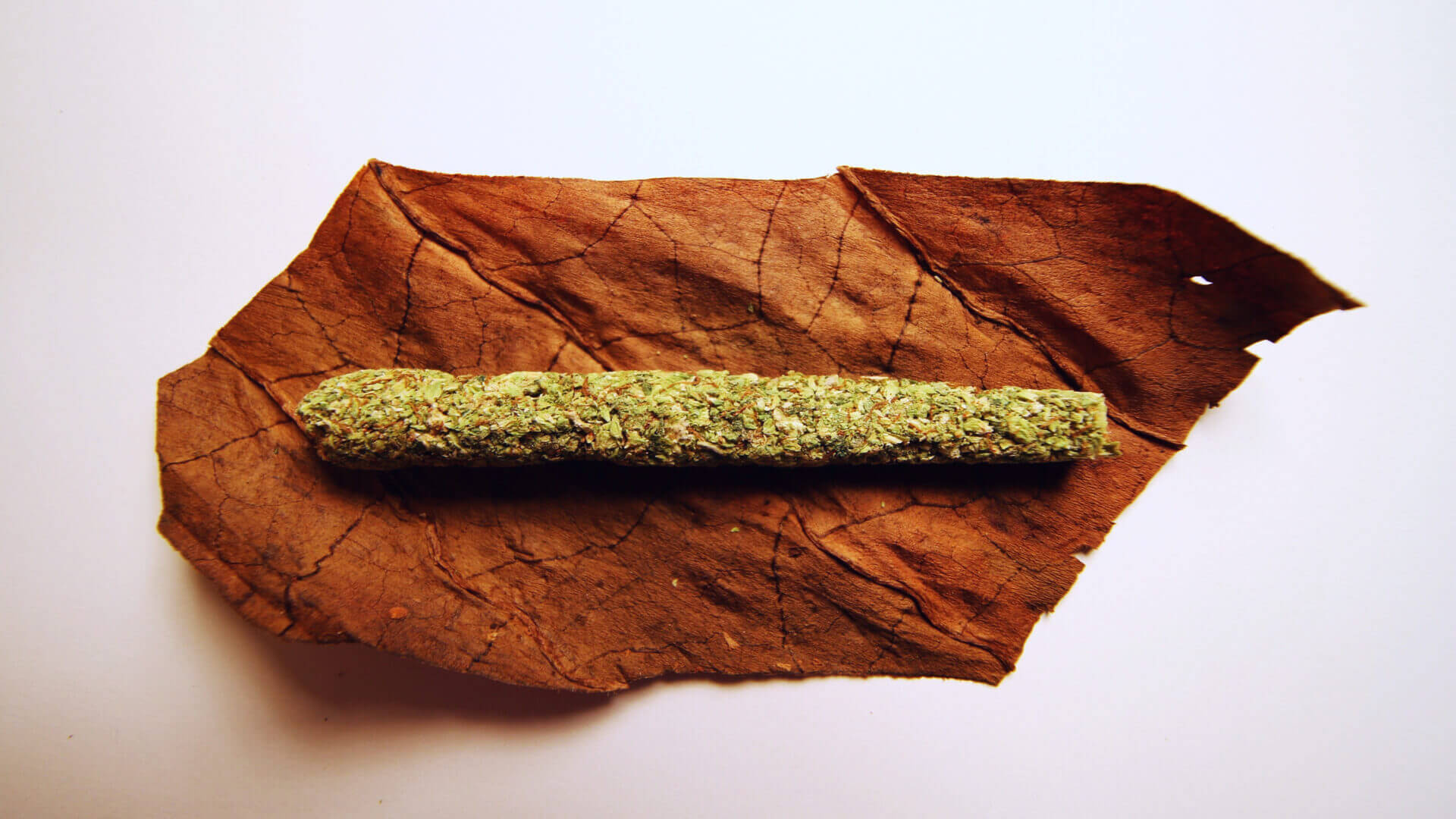 Cannabis on a cigar wrap