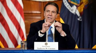 Andrew Cuomo announcing efforts to prevent the spread of coronavirus