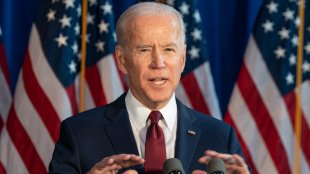 Joe Biden making a foreign policy statement at Current on Pier 59