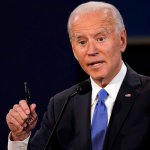 Joe Biden during the Presidential Debate in October