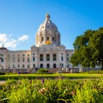 The Minnesota State Capitol Building in Saint Paul, USA