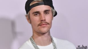 Justin Bieber headshot at an event in 2020